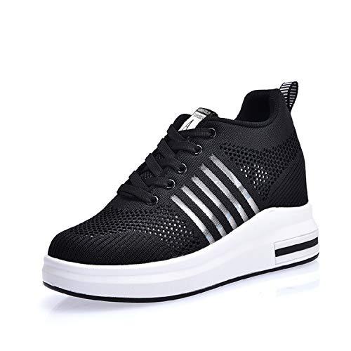 AONEGOLD Damen Sneaker Wedges mit Keilabsatz Sportschuhe Laufschuhe Turnschuhe Running Fitness Freizeitschuhen Outdoors...