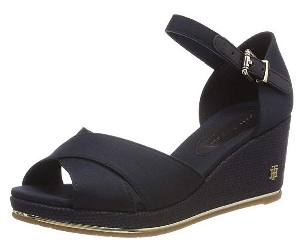 Tommy Hilfiger Wedges Schuhe mit Keilabsatz schwarz Keilabsatzschuhe Sandalen Sandaletten Damen