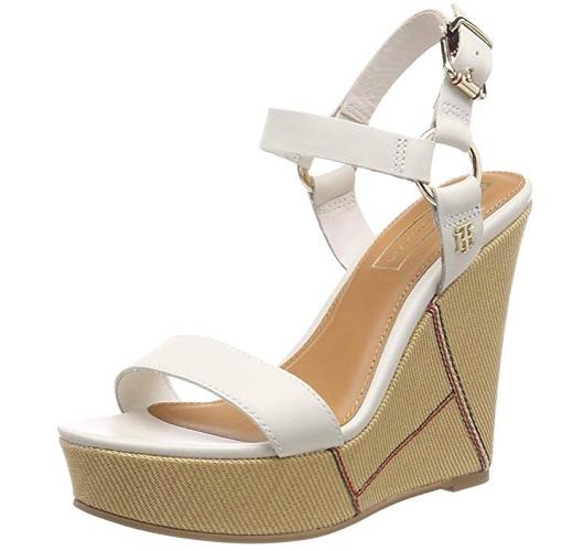 Wedges Schuhe mit Keilabsatz Sandalen Sandaletten Keilabsatzschuhe Tommy Hilfiger
